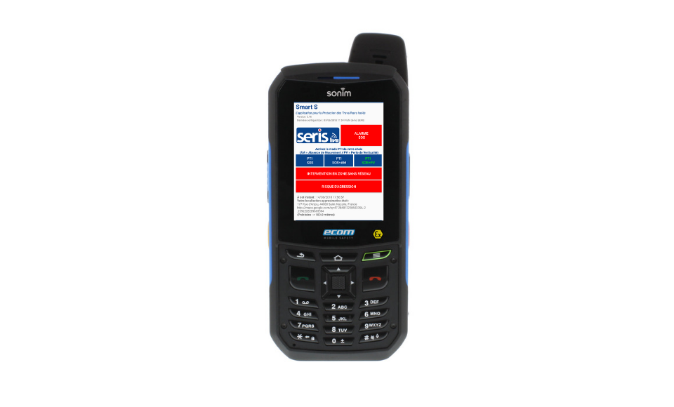 TELEPHONE Android ATEX PTI SERIS Live Mobility 402Ex - Protection du travailleur isolé
